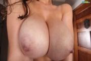 Lana Kendrick Big Boobs Black Lacy Bra 12