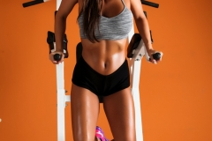 Abigail Mac Big Boobs in Gym Sweaty Workout 05