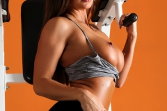 Abigail Mac Big Boobs in Gym Sweaty Workout 07