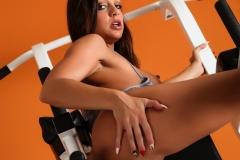 Abigail Mac Big Boobs in Gym Sweaty Workout 15