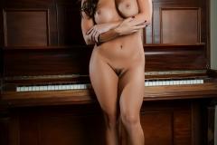 Abigail Mac Big Boobs in Pink Bra and Panties 007
