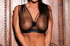 Abigail Mac Big Tits Look Good in seethrough Top 015