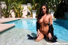 Abigail Mac Big Tits Naked by the Pool 01