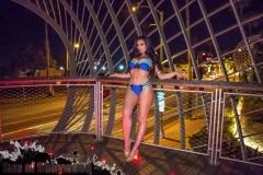 Abigail Ratchford Big Tits Blue Bikini 09