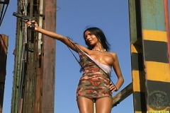 ActionGirls Amira Hazine Slinky Camo Dress Action 06