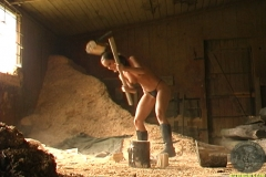 ActionGirls Martina Fox Chopping Wood 01