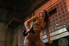 ActionGirls Susana Spears Naked Oiled Workout Babe 08