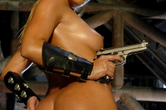 ActionGirls Sylvia Saint Leather Officer with Luger 13