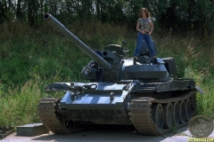 ActionGirls Veronica Zemanova Huge Boobs on a Tank 01