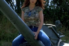 ActionGirls Veronica Zemanova Huge Boobs on a Tank 03