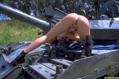ActionGirls Veronica Zemanova Huge Boobs on a Tank 15