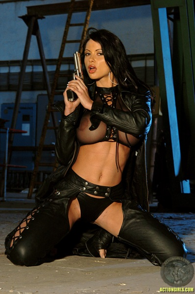 ActionGirls Veronica Zemanova Wields Gun Naked 03