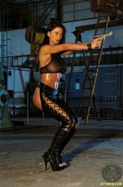 ActionGirls Veronica Zemanova Wields Gun Naked 04