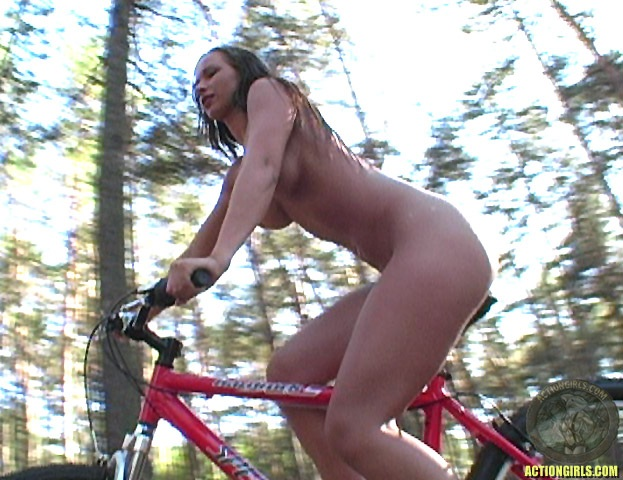 ActionGirls Susana Spears Naked Oiled Bike Ride 10
