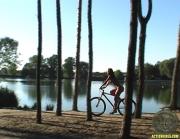 ActionGirls Susana Spears Naked Oiled Bike Ride 11