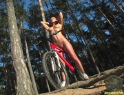ActionGirls Susana Spears Naked Oiled Bike Ride 12