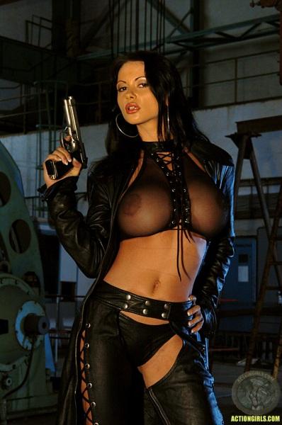 ActionGirls Veronica Zemanova Wields Gun Naked 01