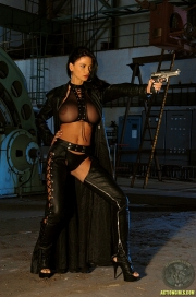 ActionGirls Veronica Zemanova Wields Gun Naked 02