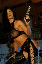 ActionGirls Veronica Zemanova Wields Gun Naked 06
