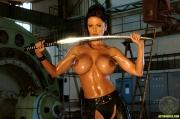 ActionGirls Veronica Zemanova Wields Gun Naked 07