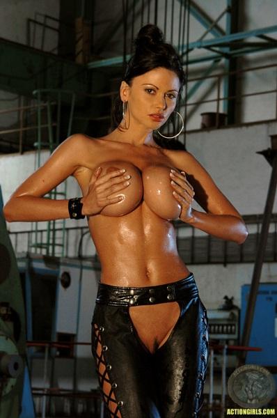 ActionGirls Veronica Zemanova Wields Gun Naked 10
