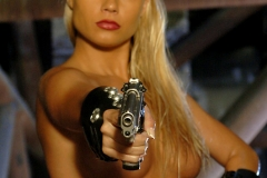 ActionGirls Sylvia Saint Leather Officer with Luger 11