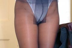 Adele Stephens Big Tits Boss in Pinstripe Miniskirt 014