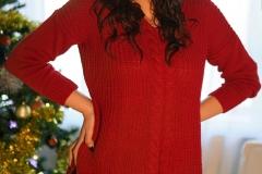 Adrianne-Thelma-Big-Boobs-Short-Red-Jumper-Dress-011
