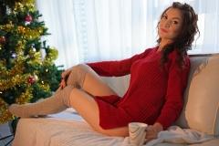Adrianne-Thelma-Big-Boobs-Short-Red-Jumper-Dress-014
