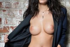 Alexandra Tyler Big Tits Blue Shirt and Panties 002