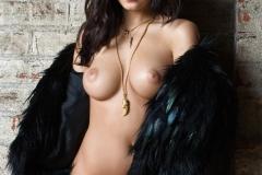 Alexandra Tyler Tits in Black Fur 04