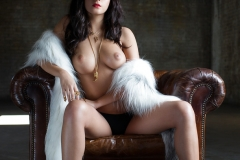 Alexandra Tyler Tits in Black Fur 07
