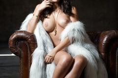 Alexandra Tyler Tits in Black Fur 10
