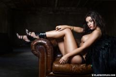 Alexandra Tyler Tits in Black Fur 11