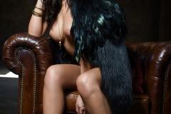 Alexandra Tyler Tits in Black Fur 12