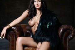 Alexandra Tyler Tits in Black Fur 15