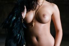 Alexandra Tyler Tits in Black Fur 17