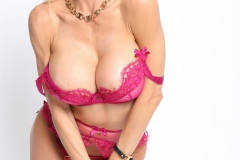 Alexis Fawx Big Tits Pink Bra and Panties with Stockings 004