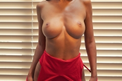 Alina big Boobs in Red Swimsuit for Photodromm 002