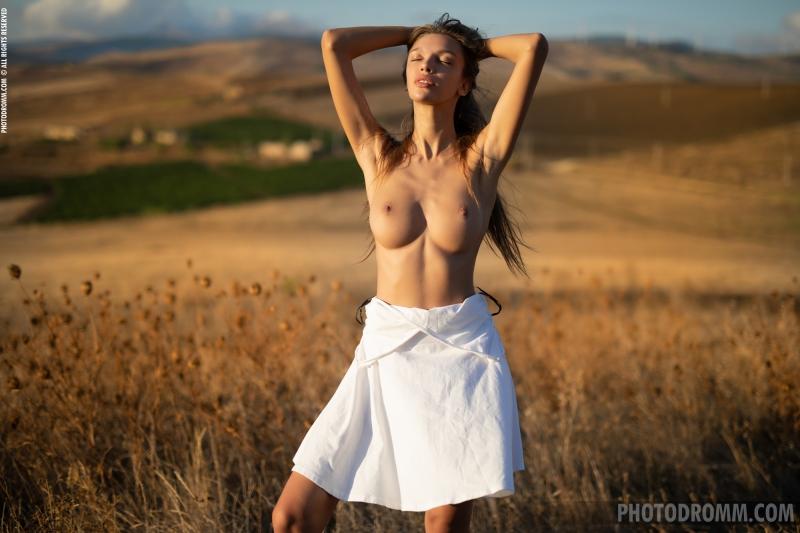Alina-Big-Tits-in-White-Flowy-Dress-for-Photodromm-004