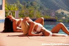 Alison Tyler and Brooke have Baked Huge Boob Lesbian fun at the Pool 006