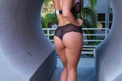 Alison Tyler Big Boobs Black Lacy Bra and Panties 004