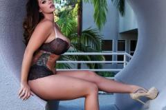Alison Tyler Big Boobs Black Lacy Bra and Panties 006