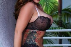 Alison Tyler Big Boobs Black Lacy Bra and Panties 007