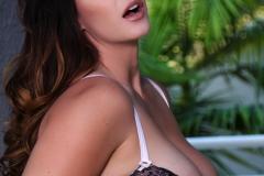 Alison Tyler Big Boobs Black Lacy Bra and Panties 008
