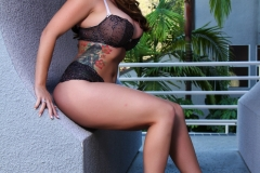Alison Tyler Big Boobs Black Lacy Bra and Panties 009