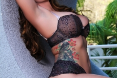 Alison Tyler Big Boobs Black Lacy Bra and Panties 010