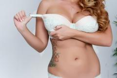 Alison Tyler Big Boobs look good in pale green bra