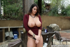 Alison Tyler Big Breasts in Clingy Red Dress 01