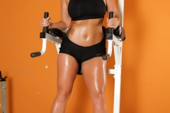 Alison Tyler has Big Boob Sweaty Workout in Black Tight Top 001